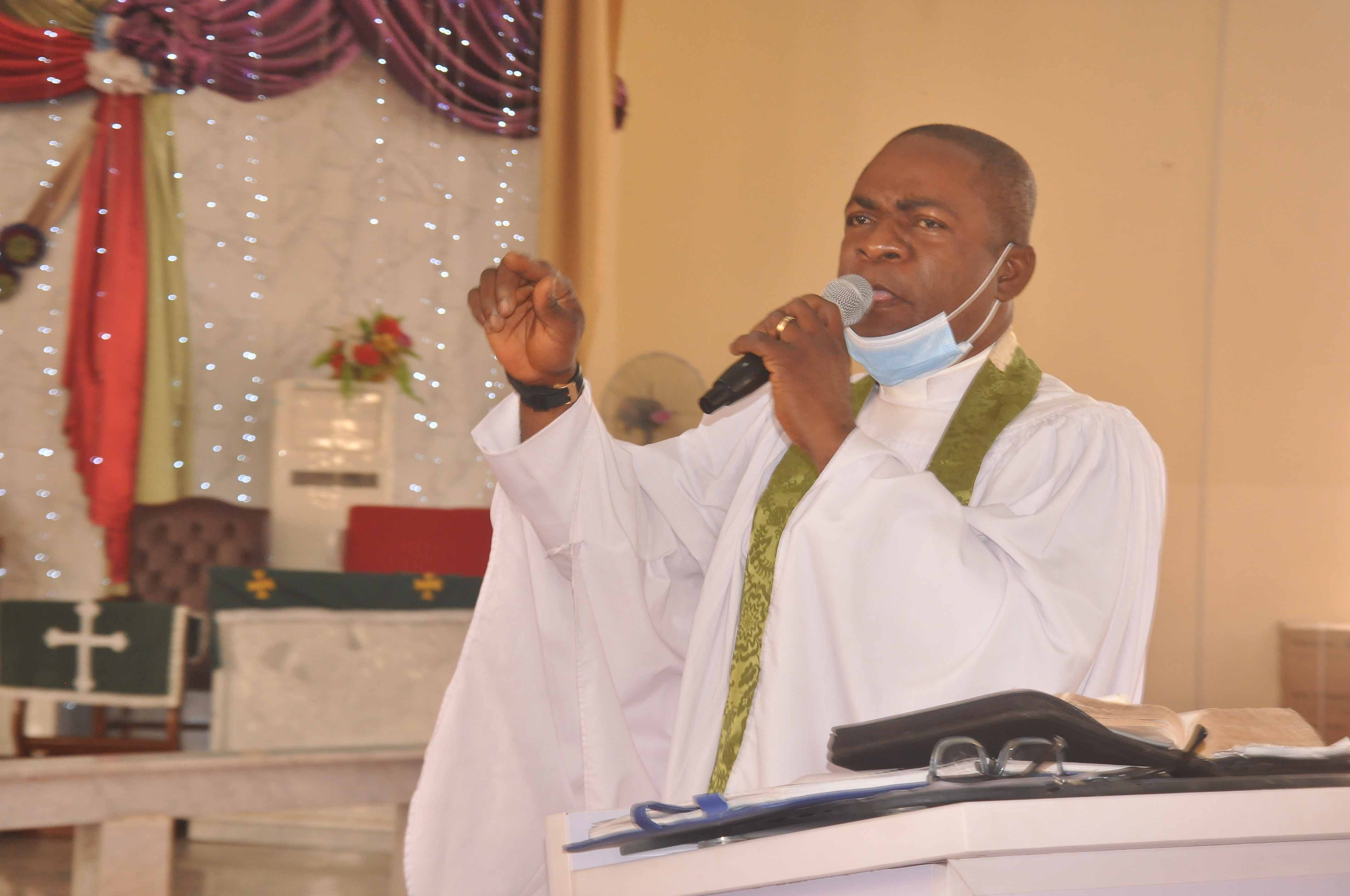 Ven. Dr. Louis Ochei Ministering